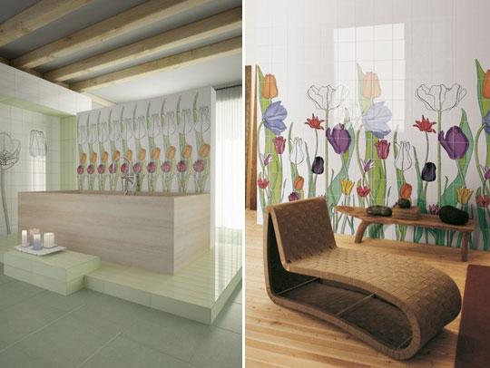Ceramiche artistiche rivestimenti bagno commerciale for Piastrelle cucina fantasia